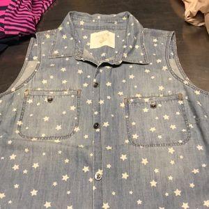 Denim star shirt
